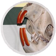 Beaver Teeth Round Beach Towel