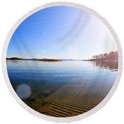 Beavers Bend State Park-lake- Oklahoma Panorama Round Beach Towel