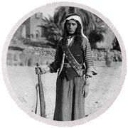 Bedouin Youth, C1926 Round Beach Towel