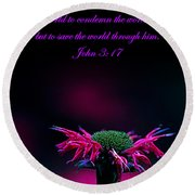 Bee Baum John 3 17 Round Beach Towel