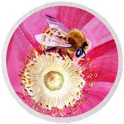 Bee The One Round Beach Towel