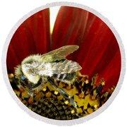 Bee Tip Toes Round Beach Towel
