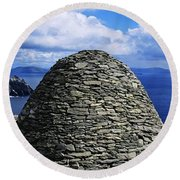 Beehive Huts At The Coast, Skellig Round Beach Towel
