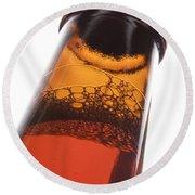 Beer Bottle Neck 2 F Round Beach Towel