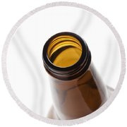 Beer Bottle Neck 3 Round Beach Towel