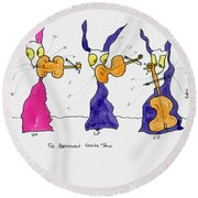 Beethoven String Trio Round Beach Towel