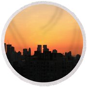 Behind The Building Round Beach Towel