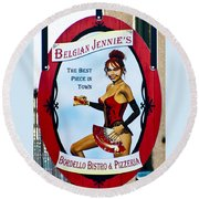 Belgian Jennie   Jerome Arizona Round Beach Towel