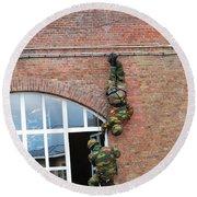 Belgian Paratroopers Rappelling Round Beach Towel by Luc De Jaeger