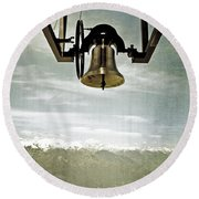 Bell In Heaven Round Beach Towel