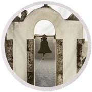 Bell Tower Round Beach Towel