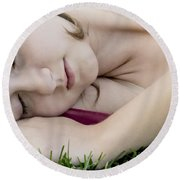 Bella Sleeps Round Beach Towel