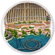 Bellagio - Impressions Round Beach Towel