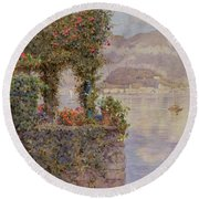 Bellagio From Tremezzo Round Beach Towel
