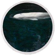 Beluga Impressions 2 Round Beach Towel