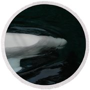 Beluga Impressions 3 Round Beach Towel