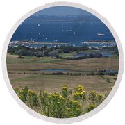 Bembridge Harbour And The Solent Round Beach Towel