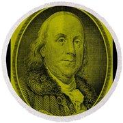 Ben Franklin In Yellow Round Beach Towel