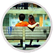 Benchlovers Round Beach Towel