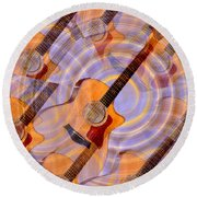 Bending Time And Space Round Beach Towel