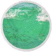 Beneath The Waves Round Beach Towel