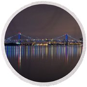 Benjamin Franklin Bridge Round Beach Towel