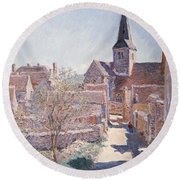 Bennecourt Round Beach Towel