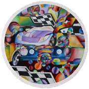 Ben's Car Show Round Beach Towel