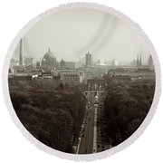Berlin From The Victory Column Round Beach Towel