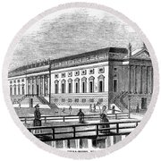 Berlin: Opera House, 1843 Round Beach Towel