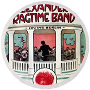 Berlin: Ragtime Band, 1911 Round Beach Towel
