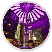Berlin Sony Center Round Beach Towel