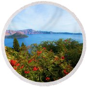 Berries And The Wizard Round Beach Towel