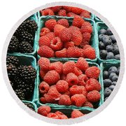 Berry Baskets Round Beach Towel