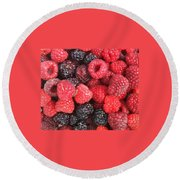 Berry Party Round Beach Towel