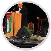 Bethlehem Mayor Dr. Victor Batarseh Round Beach Towel