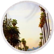 Beverly Hills In La Round Beach Towel