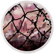 Beyond The Chain Link Round Beach Towel