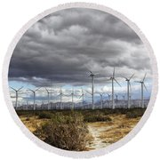 Beyond The Clouds Palm Springs Round Beach Towel