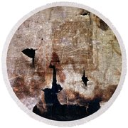 Beyond The Tattered Curtain Round Beach Towel by Kevyn Bashore