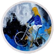 Bicycle 77 Round Beach Towel