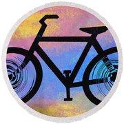 Bicycle Shop Round Beach Towel