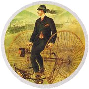 Bicycles And Tricycles Round Beach Towel