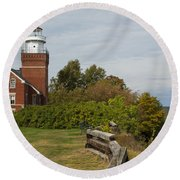Big Bay Point Lighthouse 1 Round Beach Towel