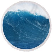 Big Blue Wave Round Beach Towel