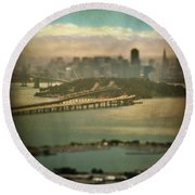 Big City Dreams Round Beach Towel by Laurie Search