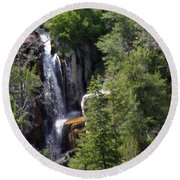 Big Horn National Forest Round Beach Towel