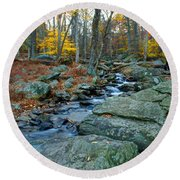 Big Hunting Creek Upstream From Cunningham Falls Round Beach Towel
