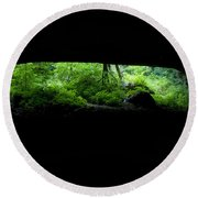 Big Mouth Cave, Tennessee Round Beach Towel