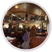 Big Nigerian Church In Lagos Round Beach Towel
